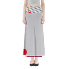 Watermark Circle Polka Dots Black Red Maxi Skirts by Mariart