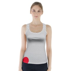 Watermark Circle Polka Dots Black Red Racer Back Sports Top by Mariart