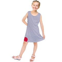 Watermark Circle Polka Dots Black Red Kids  Tunic Dress by Mariart