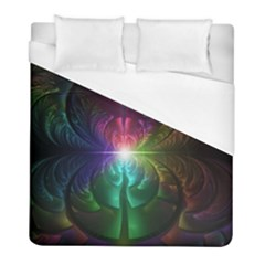 Anodized Rainbow Eyes And Metallic Fractal Flares Duvet Cover (full/ Double Size)