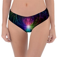 Anodized Rainbow Eyes And Metallic Fractal Flares Reversible Classic Bikini Bottoms