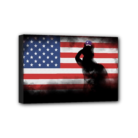 Honor Our Heroes On Memorial Day Mini Canvas 6  X 4  by Catifornia