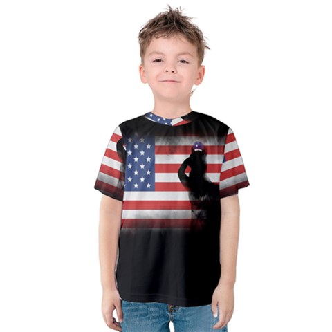 Honor Our Heroes On Memorial Day Kids  Cotton Tee by Catifornia