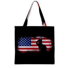 Honor Our Heroes On Memorial Day Grocery Tote Bag