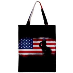 Honor Our Heroes On Memorial Day Zipper Classic Tote Bag by Catifornia