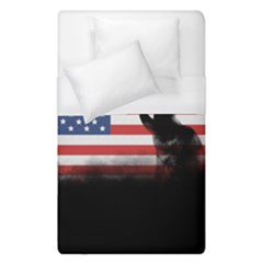 Honor Our Heroes On Memorial Day Duvet Cover (single Size)
