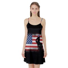 Honor Our Heroes On Memorial Day Satin Night Slip