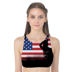 Honor Our Heroes On Memorial Day Tank Bikini Top by Catifornia