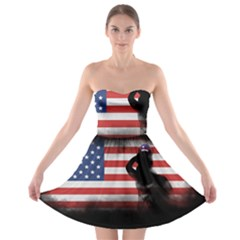 Honor Our Heroes On Memorial Day Strapless Bra Top Dress by Catifornia