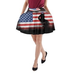 Honor Our Heroes On Memorial Day A Line Pocket Skirt