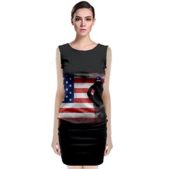 Honor Our Heroes On Memorial Day Classic Sleeveless Midi Dress by Catifornia