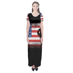Honor Our Heroes On Memorial Day Short Sleeve Maxi Dress by Catifornia