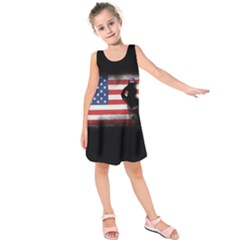 Honor Our Heroes On Memorial Day Kids  Sleeveless Dress by Catifornia