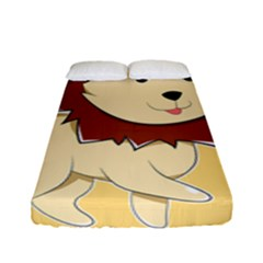 Happy Cartoon Baby Lion Fitted Sheet (full/ Double Size) by Catifornia