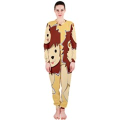 Happy Cartoon Baby Lion Onepiece Jumpsuit (ladies)  by Catifornia