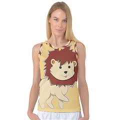 Happy Cartoon Baby Lion Women s Basketball Tank Top by Catifornia