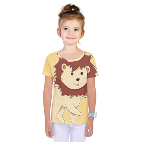 Happy Cartoon Baby Lion Kids  One Piece Tee by Catifornia