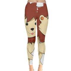 Happy Cartoon Baby Lion Leggings  by Catifornia