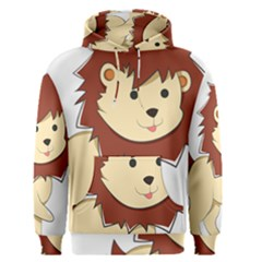 Happy Cartoon Baby Lion Men s Pullover Hoodie by Catifornia