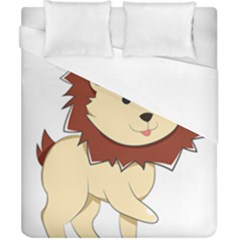 Happy Cartoon Baby Lion Duvet Cover (california King Size) by Catifornia