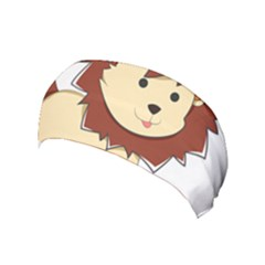 Happy Cartoon Baby Lion Yoga Headband by Catifornia