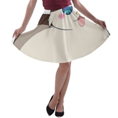 Ragdoll Cat For Life A Line Skater Skirt