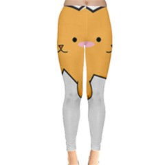 Yellow Cat Egg Leggings  by Catifornia