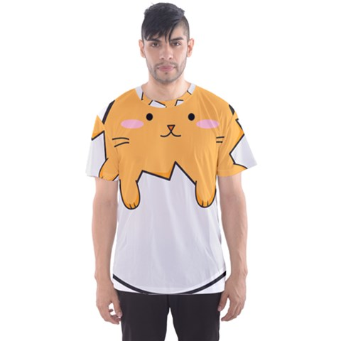 Yellow Cat Egg Men s Sports Mesh Tee by Catifornia
