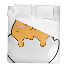 Yellow Cat Egg Duvet Cover (full/ Double Size) by Catifornia