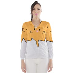 Yellow Cat Egg Wind Breaker (women) by Catifornia