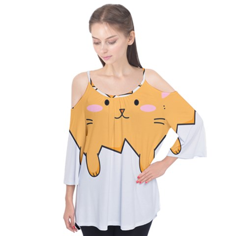 Yellow Cat Egg Flutter Tees by Catifornia