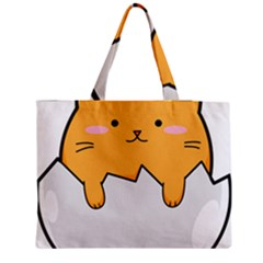 Yellow Cat Egg Medium Tote Bag by Catifornia