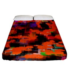 Orange Texture                 Fitted Sheet (king Size)