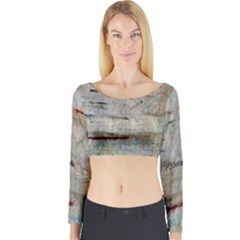 Dirty Canvas                    Long Sleeve Crop Top