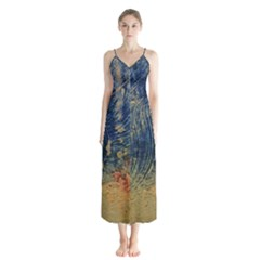 3 Colors Paint                    Chiffon Maxi Dress by LalyLauraFLM
