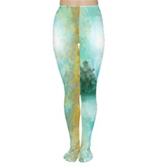 Turquoise River Women s Tights by digitaldivadesigns