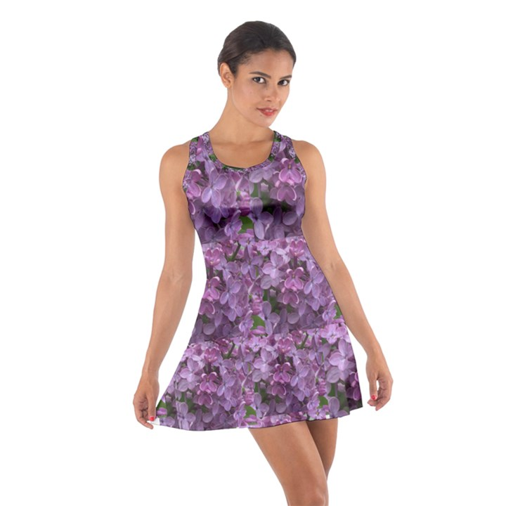 Purple Shrub Cotton Racerback Dress