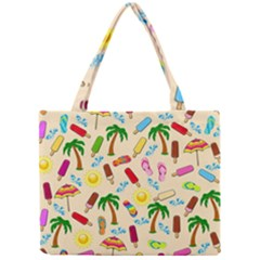 Beach Pattern Mini Tote Bag by Valentinaart