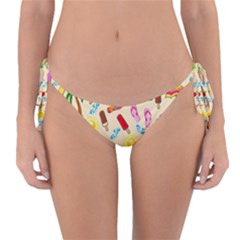 Beach Pattern Reversible Bikini Bottom