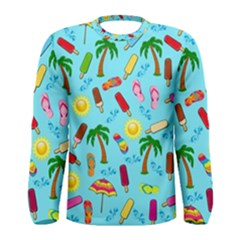 Beach Pattern Men s Long Sleeve Tee