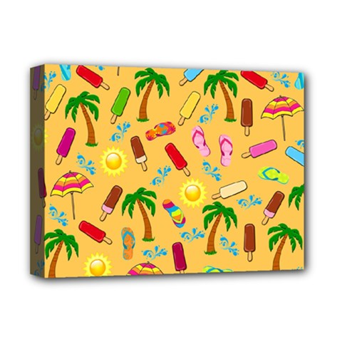 Beach Pattern Deluxe Canvas 16  X 12