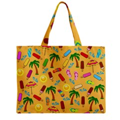 Beach Pattern Zipper Mini Tote Bag by Valentinaart