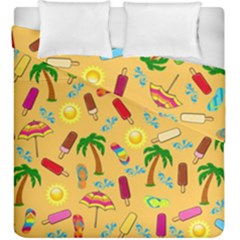Beach Pattern Duvet Cover Double Side (king Size) by Valentinaart