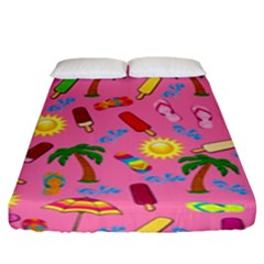 Beach Pattern Fitted Sheet (king Size)