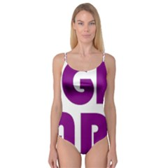 Migraine Warrior With Ribbon Camisole Leotard  by MigraineursHideout