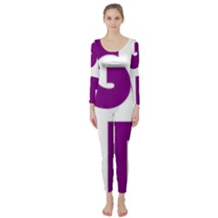 Migraine Warrior With Ribbon Long Sleeve Catsuit by MigraineursHideout