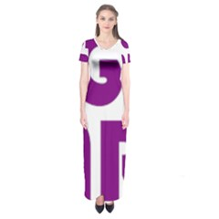 Migraine Warrior With Ribbon Short Sleeve Maxi Dress