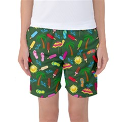 Beach Pattern Women s Basketball Shorts by Valentinaart