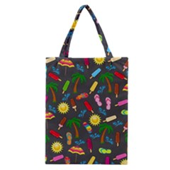 Beach Pattern Classic Tote Bag