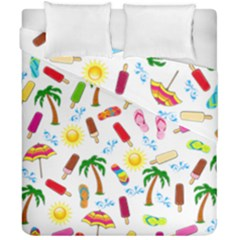 Beach Pattern Duvet Cover Double Side (california King Size) by Valentinaart